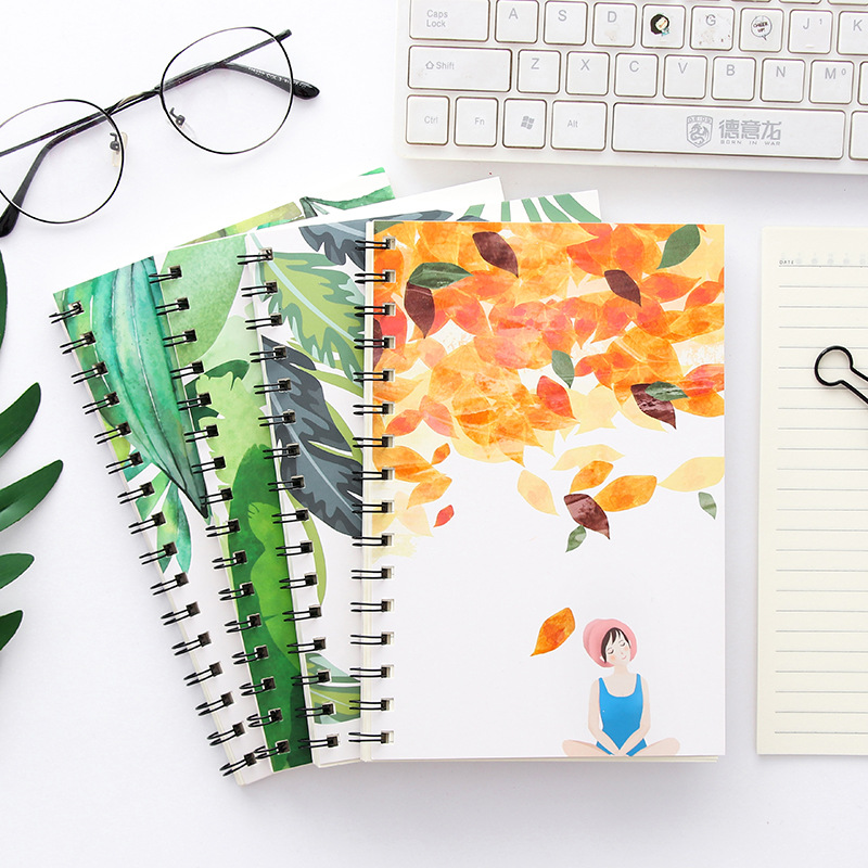 Creative Stationery Book A5 Coil Notebook Lined Grid Paper Journal Diary Sketchbook For School Supplies Stationery