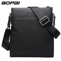 BOPAI Brand Messenger Bag Shoulder Soft Natural Crossbody Bag Vintage Men Messenger Bags Male Fashion Travel Casual Business