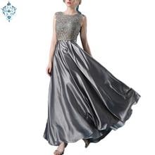 Ameision Elegant Lace Sexy Evening Dress Back Bow Knot Sleeveless Long Dress Female Party Prom Swing Maxi Dresses Vestido Longo