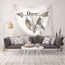 Wall Tapestry Bohemian Dream Catcher feather Print Beach Hippie Towel Blanket Indian Mandala Hanging Tapestry Home Decor G-075(China)
