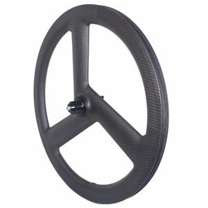 Image 5 - Tri Spoke 20 Inch 451 Carbon Wheelset BMX Folding bike wheels Disc Brake 3 Spoke Carbon Bike Wheels