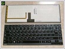 Russian Keyboard for Toshiba Portege U900 U940 900 U920T U840 U800 U800W Z830 Z835 U830 RU Black keyboard with backlit