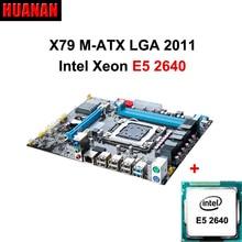HUANAN X79 płyta X79 E5 2640 CPU LGA 2011 płyty głównej Xeon CPU combo podwójne kanały obsługują 2*8G w najbardziej