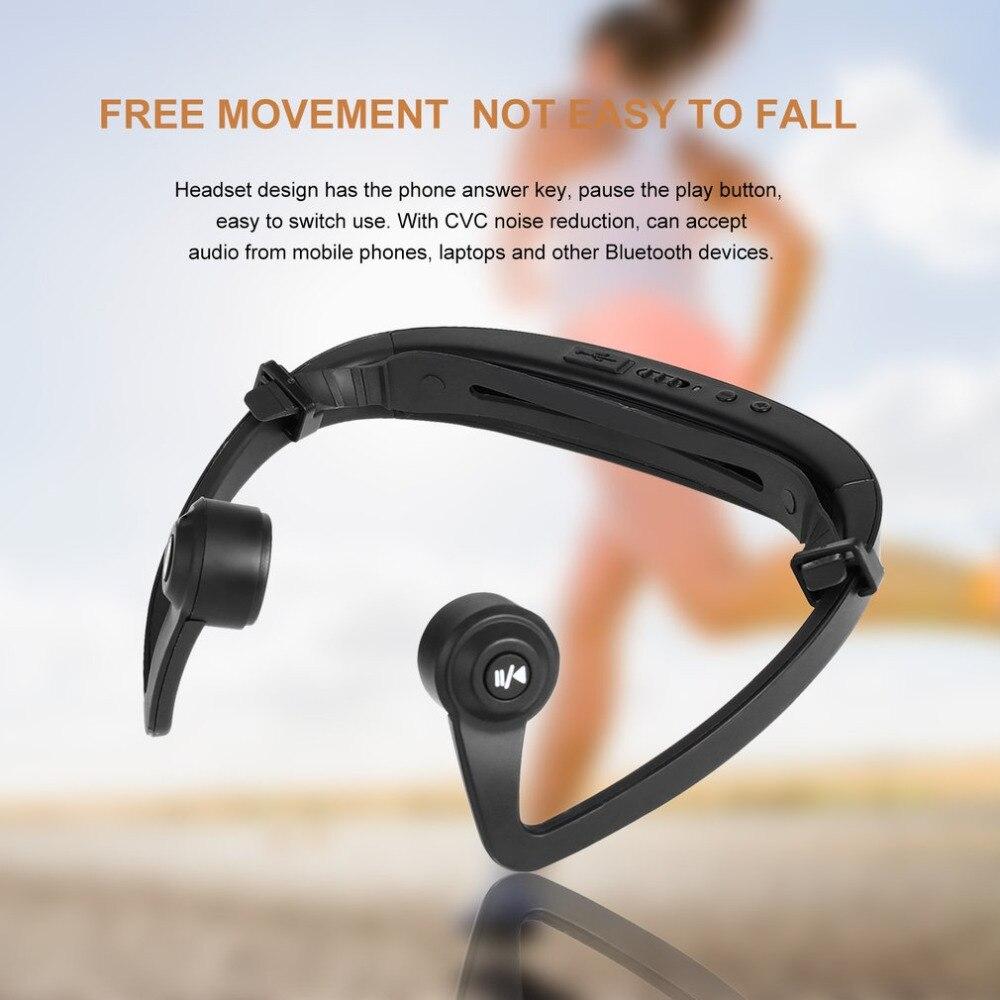 V9 auriculares Bluetooth del gancho del oído conducción ósea auriculares deportivos con micrófono diadema ajustable para iOS Android Smartphone USB carga