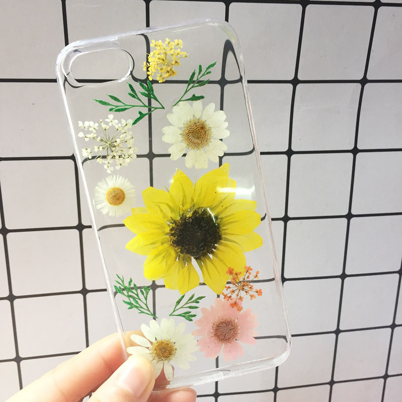 2018 New For iphone X Case Beautiful Real Pressed Flower Phone Case For iPhone 6 6S Plus 7 8 Floral Transparent Clear Phone Case (12)