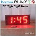 Leeman 3 цифры Led производства в китае открытый водонепроницаемый стены часы большие цифры 6 дюймов 3 цифры цифровой светодиодный очереди номер