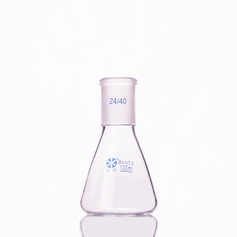 Conical Flask With Standard Ground-in Mouth,Capacity 100ml,joint 24/40,Erlenmeyer Flask With Standard Ground Mouth