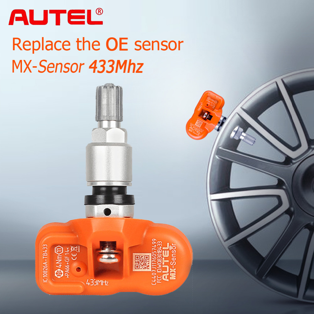 Autel Tire Pressure Monitoring Sensor MX-Sensor 433MHZ Universal Programmable TPMS 433MHz For Ford for BMW for Land Rover more gorst car automobiles intake exhaust pressure sensor for ford focus galaxy jaguar xj land rover mazda 3 volvo 3m5a 5l200 ab