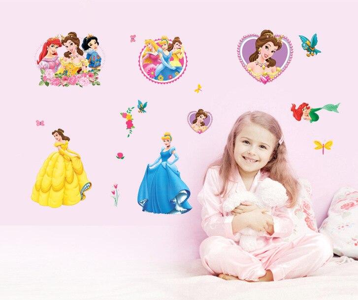 Hot Cartoon Princess Removable Wall Stickers Kids Rooms Mural Home Decor Room adesivo de parede 34*68CM - Caigou Trading Company Ltd . store