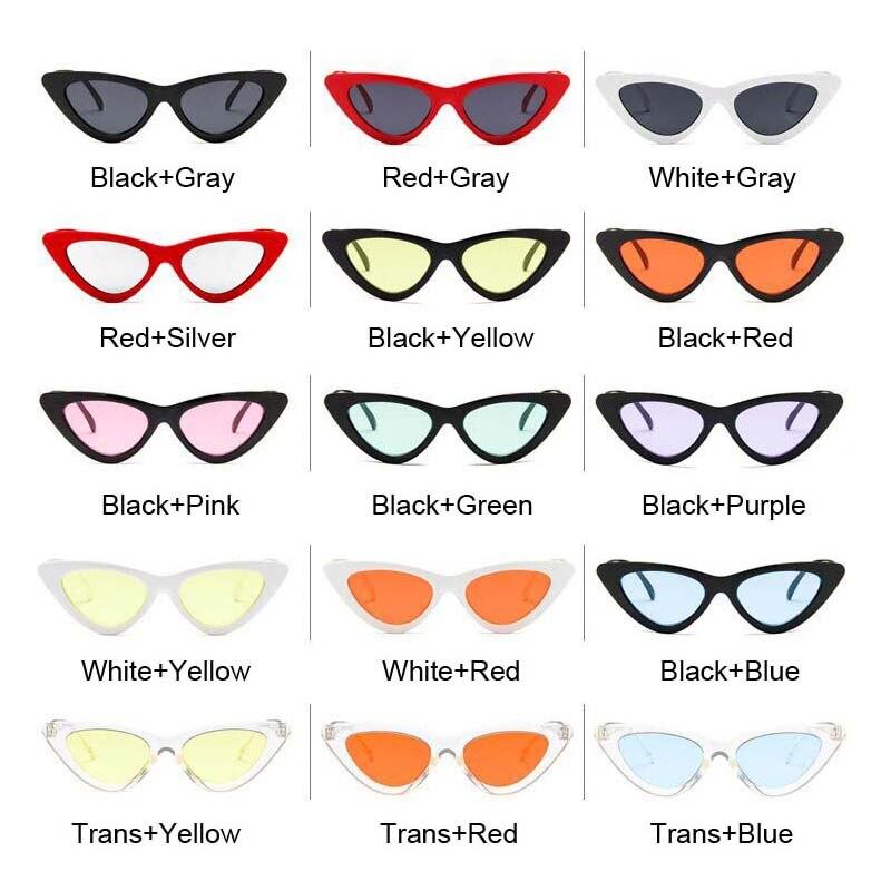 Small Cat Eye Ladies Sunglasses Red Black Frame Women Brand Designer Sun Glasses for Women Vintage Sexy Eyewear Shades UV400 5