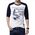 Free shipping 2013 fashion mens t shirts 100% cotton casual long sleeve t shirts for men 3 color 4 size BT03