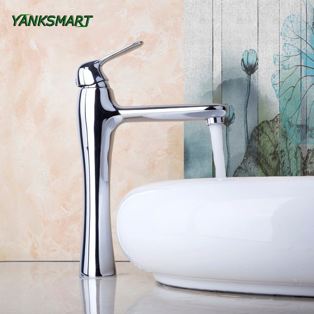 awesome Faucets Uk Part - 1: YANKSMART UK Bathroom Chrome polished Faucets Basin Sink Mixer Water Tap w-  single Lever Taps