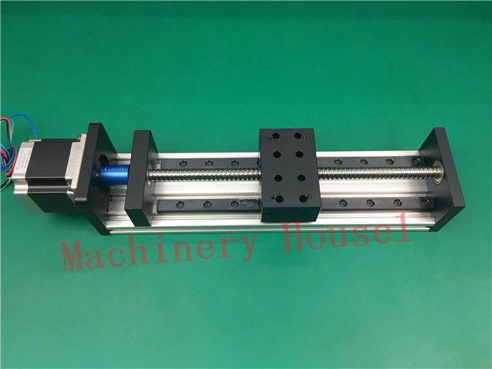 High Precision GX80*50mm Ballscrew 1204 150mm Effective Travel+Nema 23 Stepper Motor Stage Linear Motion single block toothed belt drive motorized stepper motor precision guide rail manufacturer guideway