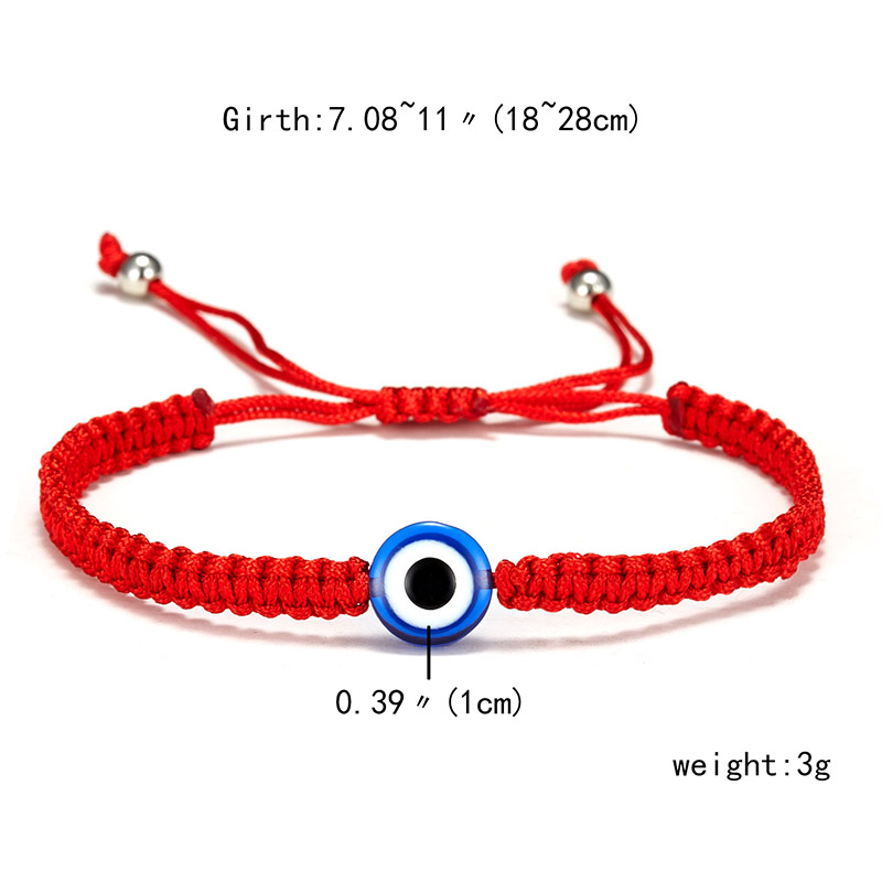 9 стилей плетеная красная нить на удачу Хамса браслет с подвесками на руку синий бисер, от сглаза браслет мода дружбы ювелирные изделия для женщин мужчин - Окраска металла: 1 eye