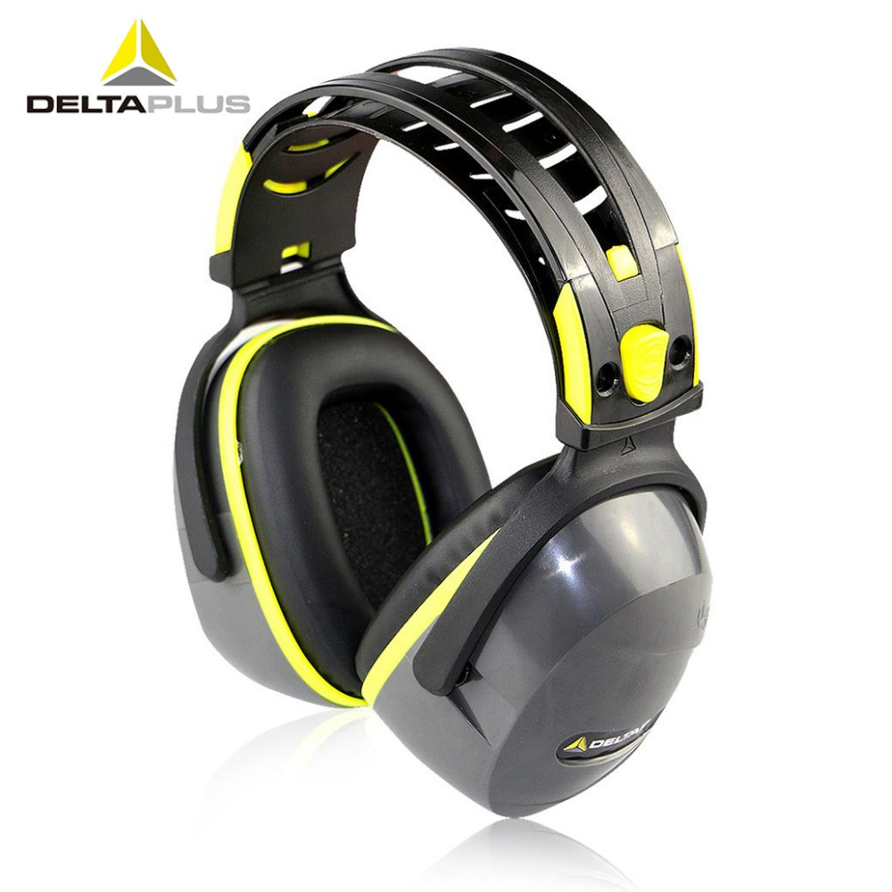 Deltaplus Ear Protectors Noise-proof Earmuffs Work Study Sleep Effective Noise Prevention SNR33dB Soundproof Protective Earmuffs 3m 1426 earmuffs noise soundproof ear protectors reduction noise economic type comfortable ear muff for travel sleep study work