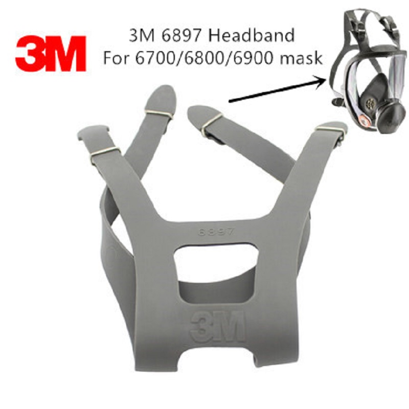 3M 6897 Headband For 6700/6800/6900 Full-face Gas Mask Respirator Replace Strap Four Fixed Firm Durable Rubber Adjustable Band