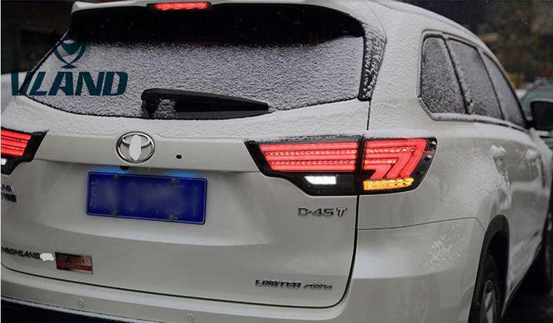 VLAND manufacturer for Car Tail light for Highlander LED Taillight 2015 2016 for Highlander Tail lamp with DRL+Reverse+Brake
