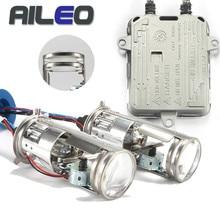 AILEO HID suit Car Headlight Bulbs h4 Xenon hid lossless xenon Projector Double Lens Shrouds Headlight 12V 24V 6000k 8000k 55W