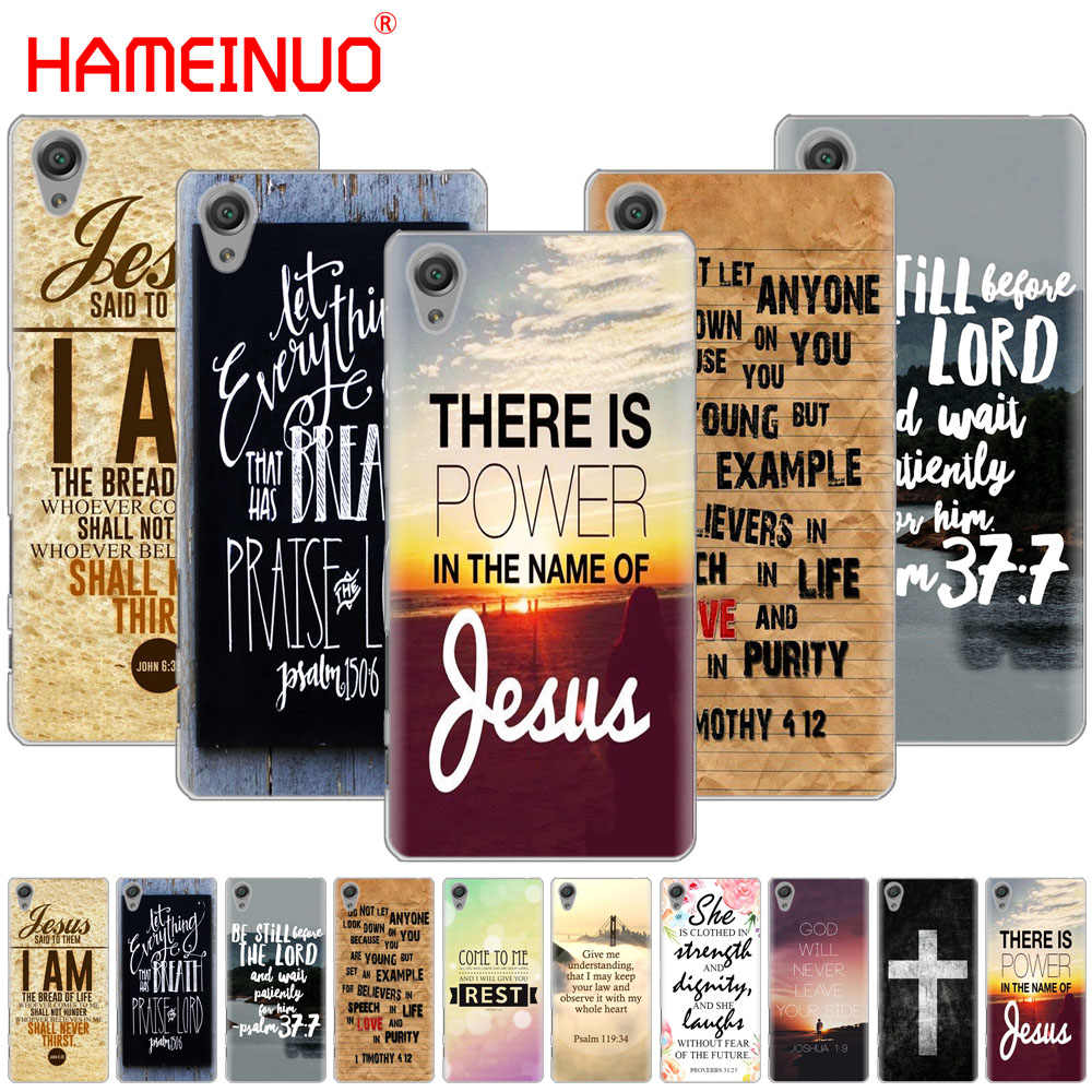 HAMEINUO クリスチャンイエスの聖書の詩カバー電話ケース sony xperia C6 XA1 XA2 XA ウルトラ X XP L1 L2 × XZ1 コンパクト XR/XZ プレミアム