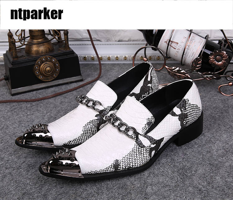 ntparker Ponited Metal Toe Man Dress Shoes Rock Personality Man Wedding Shoes Party Footwear Height Increased, US6-12ntparker Ponited Metal Toe Man Dress Shoes Rock Personality Man Wedding Shoes Party Footwear Height Increased, US6-12