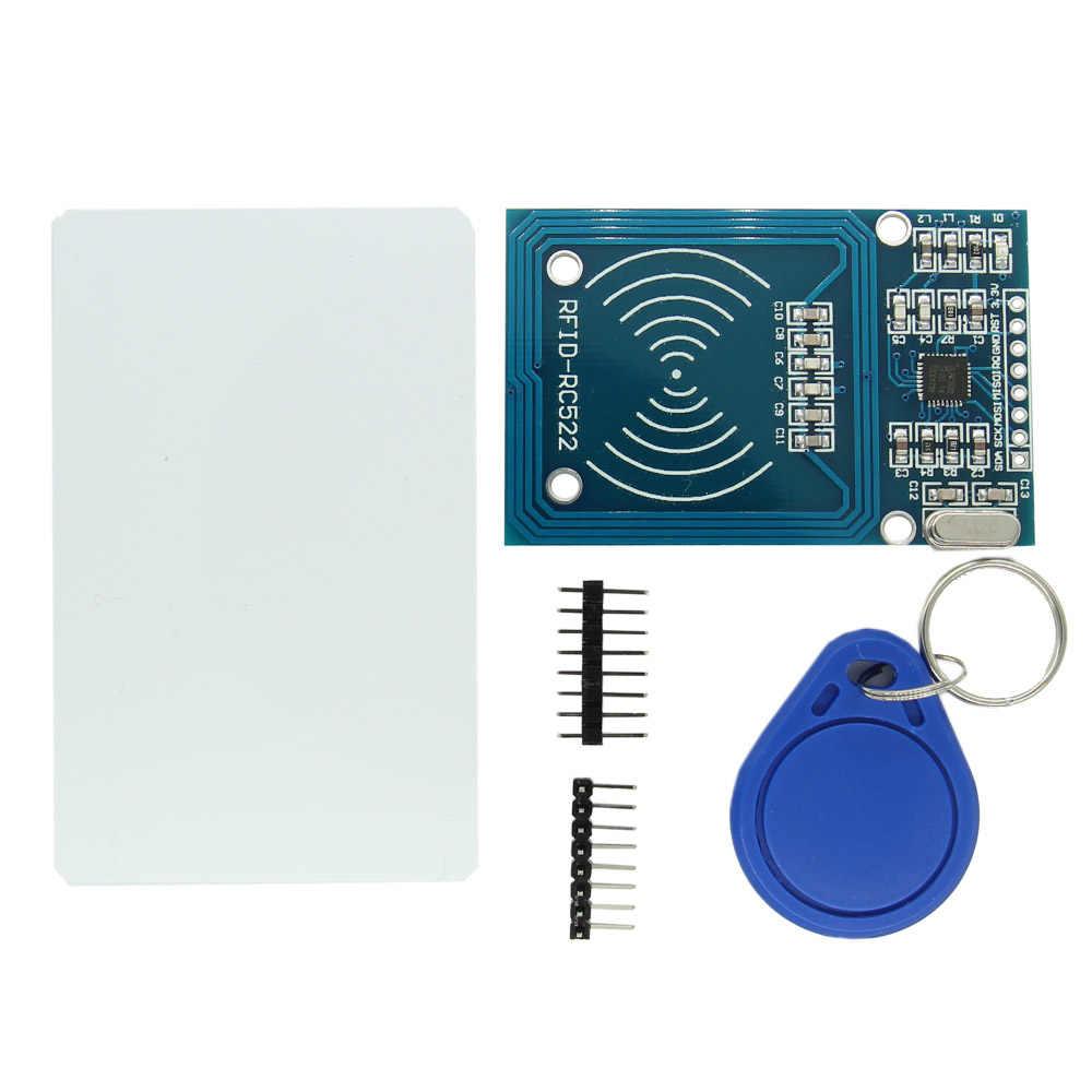 1 مجموعة MFRC-522 RC-522 RC522 RFID اللاسلكية IC وحدة S50 فودان SPI الكاتب قارئ بطاقة مفتاح سلسلة الاستشعار أطقم 13.56Mhz لاردوينو