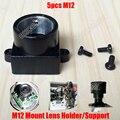 5 pcs de metal lente m12 montagem mtv m12 lente da câmera de segurança cctv bracket suporte suporte board módulo espaçamento parafuso adaptador conector