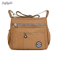 JINQIAOER New Women Messenger Bags For Women Waterproof Nylon Handbag Female Shoulder Bag Ladies Crossbody Bags