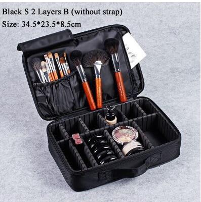 Купить с кэшбэком Makeup Bag Organizer Professional Makeup Box Artist Makeup Organizer Storage Bag Travel Cosmetic Pouch Handbag