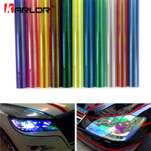 120*30cm brillante Chameleon Auto faros delanteros de diseño para coche luces traseras película traslúcida luces cambiar el Color coche pegatinas
