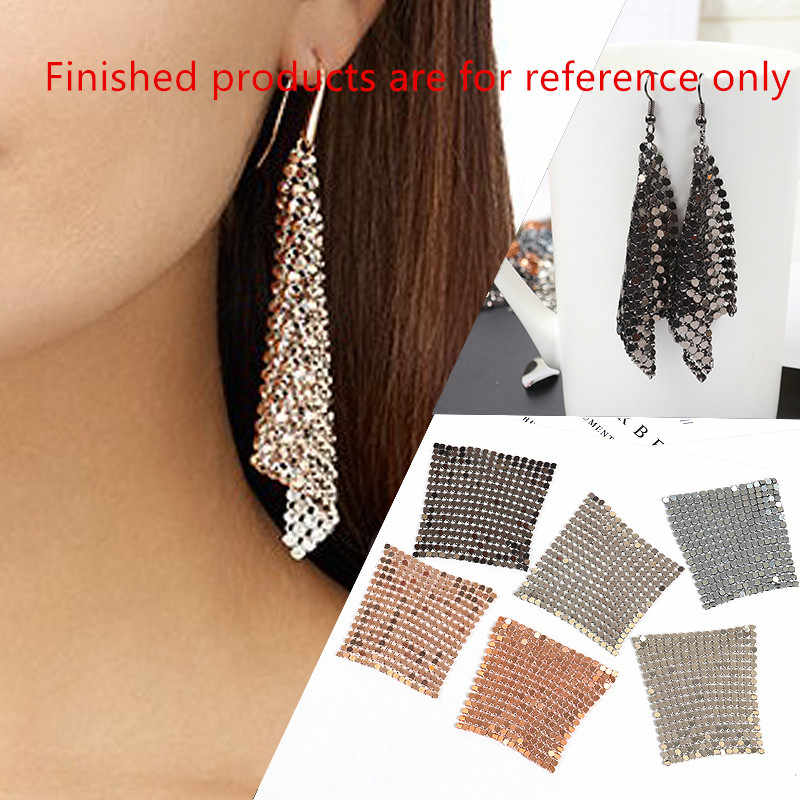 Diy jewelry earring pendants accessory 30pcs/lot 50mm Sequins Geometric square shape Copper/Aluminium metal fashion charms