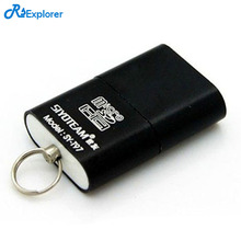 RSExplorer Mini CardReader High Speed 480 Mbps USB 2.0 Micro SD TF T-Flash Memory Card Reader Adapter for PC/ Mac
