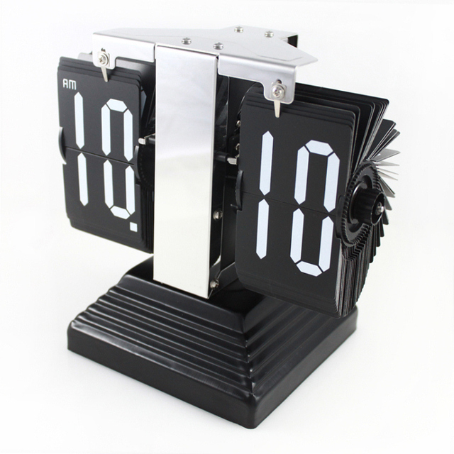 Ancient Egyptian Pyramid Flip Zhongtian Ping Clock Business Gift Ideas Office Desk Clocks Automatically