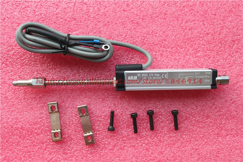 Free shipping  KTR 100mm spring self recovery linear displacement sensor built in spring self reset