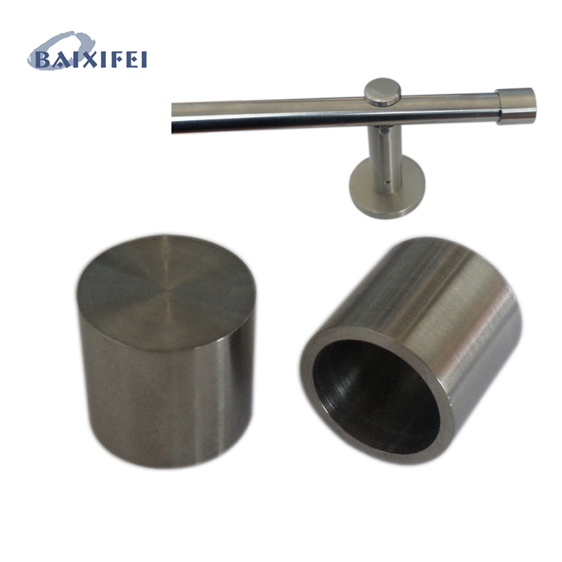 D20mm Curtain Rod Stainless Steel Decorative Head Short Sleeve, Curtain Accessories Finials for Window Decoration
