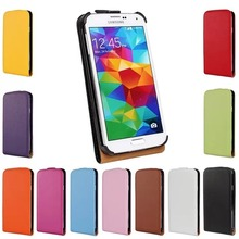 Luxury Genuine Real Leather Case Flip Cover Mobile Phone Accessories Bag Retro Vertical For Samsung GALAXY S5 I9600 PS