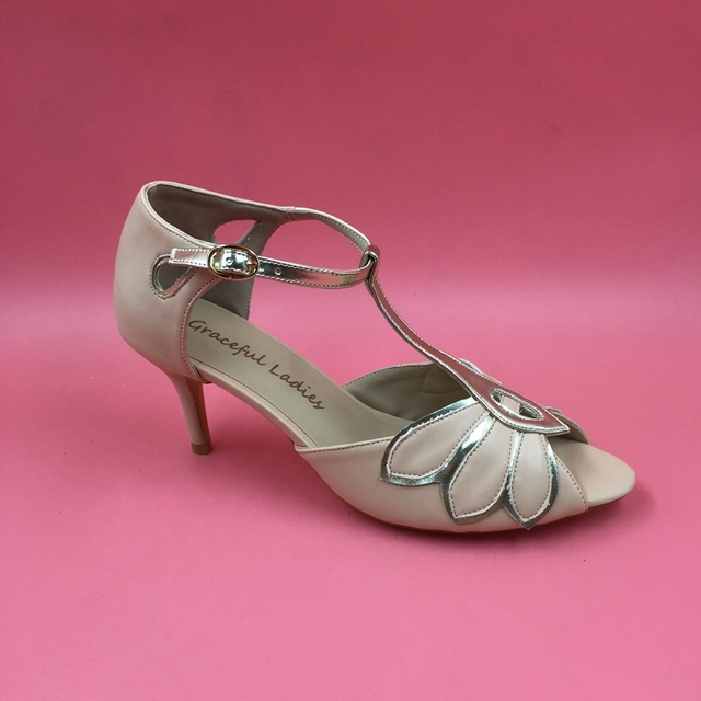 Blush Pink Wedding Shoes Sandal Womens Open Toe Med Heel Stiletto ...
