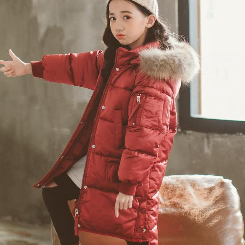 2018 New Children Russia Winter Jacket For Girls Clothes Thick Kids Baby Cotton Down For Girls Warm Coat Parka Snowsuits Costume цена