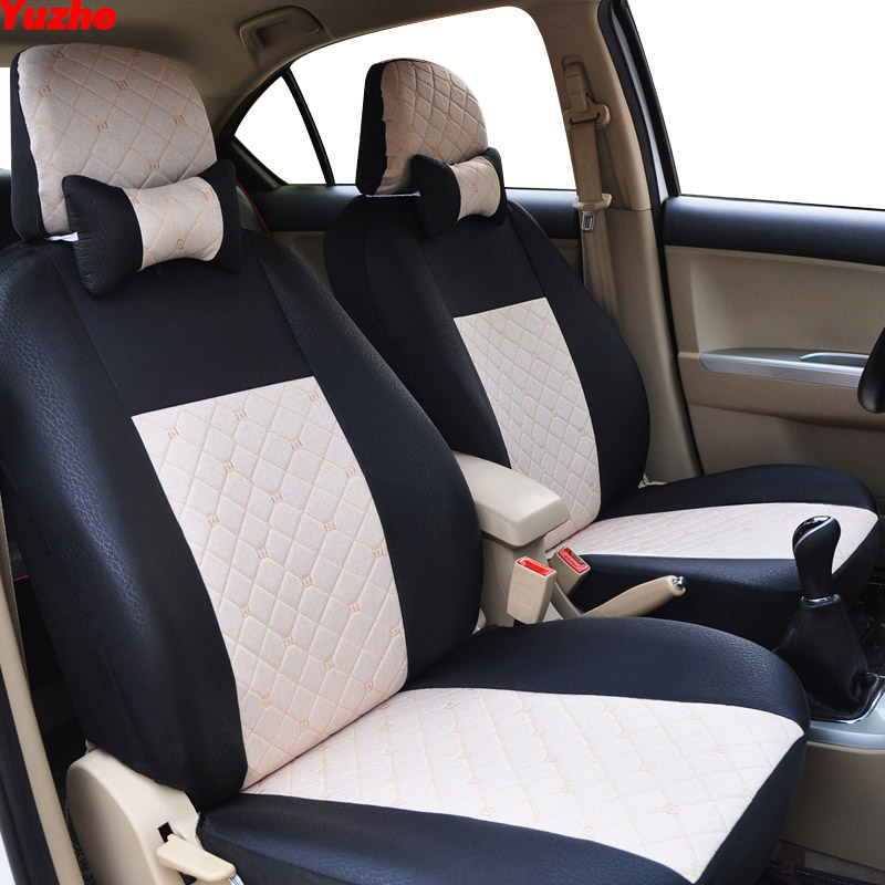 Yuzhe Universal car seat cover For ford focus 2 3 S-MAX fiesta kuga 2017 ranger mondeo mk3 car accessorie cover for vehicle seat pu leather universal car cushion for ford focus 2 3 s max fiesta kuga ranger mondeo mk3 fusion car seat cover car accessories