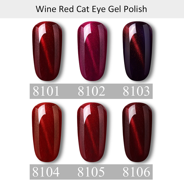 Elite99 10ml Wein Rote Katze Auge Gel Lacke Tränken Weg Von Magnetische Nagel Gelpolish Semi Permanent 3D Katze Auge Nagel gel Polnischen DIY Nagel