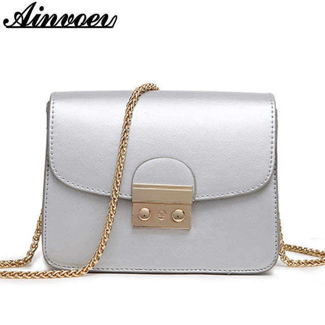 6e35a625aa Online Shop Ainvoev Women Messenger Bag Chain Leather Small bags ladies  Clutch Mini Shoulder Bags Tote top flap travel school bags hl8522