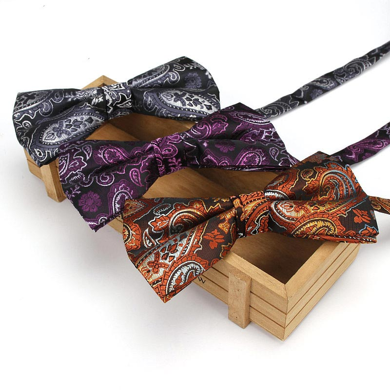 Men Groom Bow Tie Necktie Vintage Adjustable For Wedding Business Suit Party Best Man -MX8