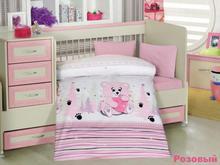 Комплект постельного белья для новорожденных ALTINBASAK, AYICIK, розовый
