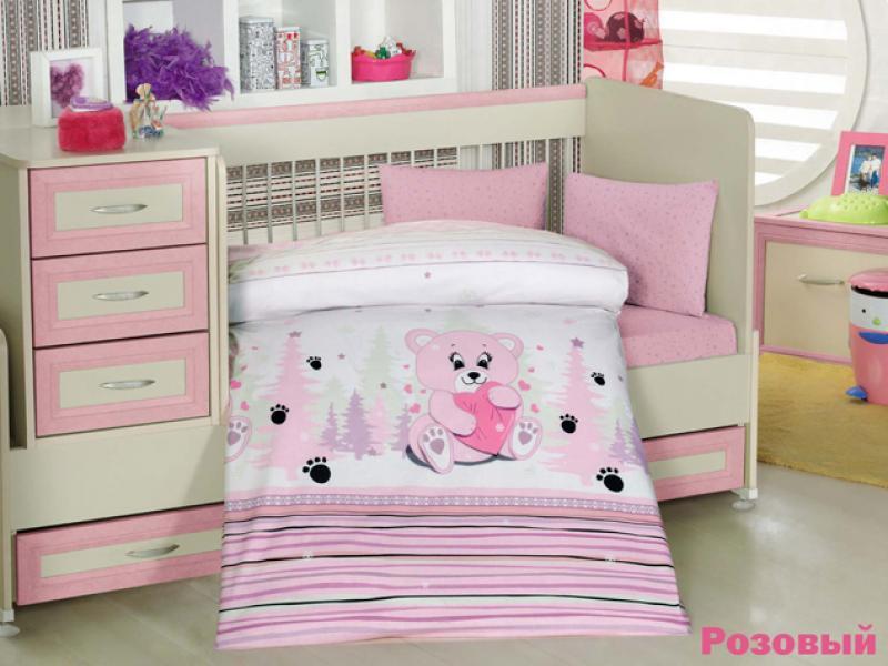 Фото - Bedding Set for baby ALTINBASAK, AYICIK, pink bedding set for baby altinbasak dream garden