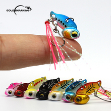 Gold Sharking 3g/6g Mini Metal VIB Hard Lures Submerged Sequins Artificial Bait For Fishing Accessories