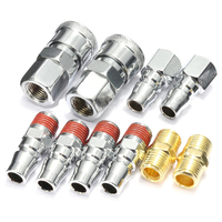 New 10Pcs 1 4 BSP Air Line Hose Compressor Fitting Connector Coupler Quick Release For Air