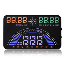Vancago 5.8 Polegada S7 CAR HUD Head Up Display GPS + OBDII Interface de Alarme de Falha Do Motor Dinâmico Sistema de Alerta de Excesso de Velocidade