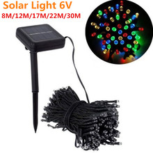 LED Solar Lamp String 6V 8M12M17M22M30M Christmas Light Holiday Garden Party Decoration Outdoor XmasTree Gift Ornament Decor