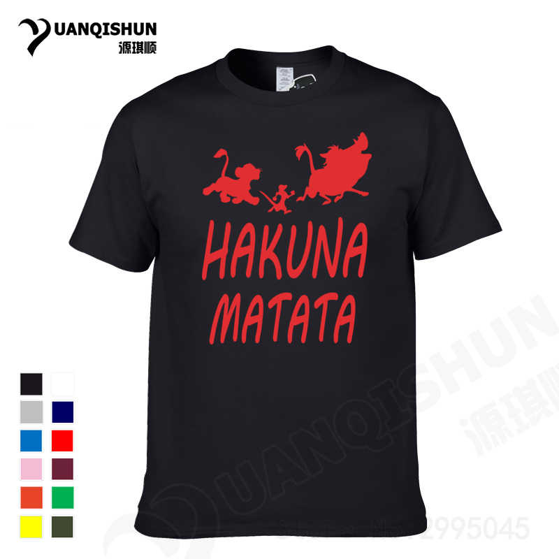 1cb18557 YUANQISHUN The Lion King T-shirt HAKUNA MATATA Printed Short Sleeve Men T  Shirt Casual