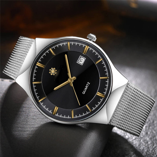 Fashion Women Men Luxury Stainless Steel Analog Quartz Wrist Watch Drop Shipping