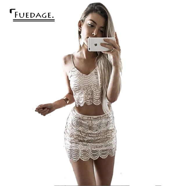 2017 Winter Sequin Christmas Dress Elegant Spaghetti Strap Sexy Bodycon New  Year Dress Shining Gold Party